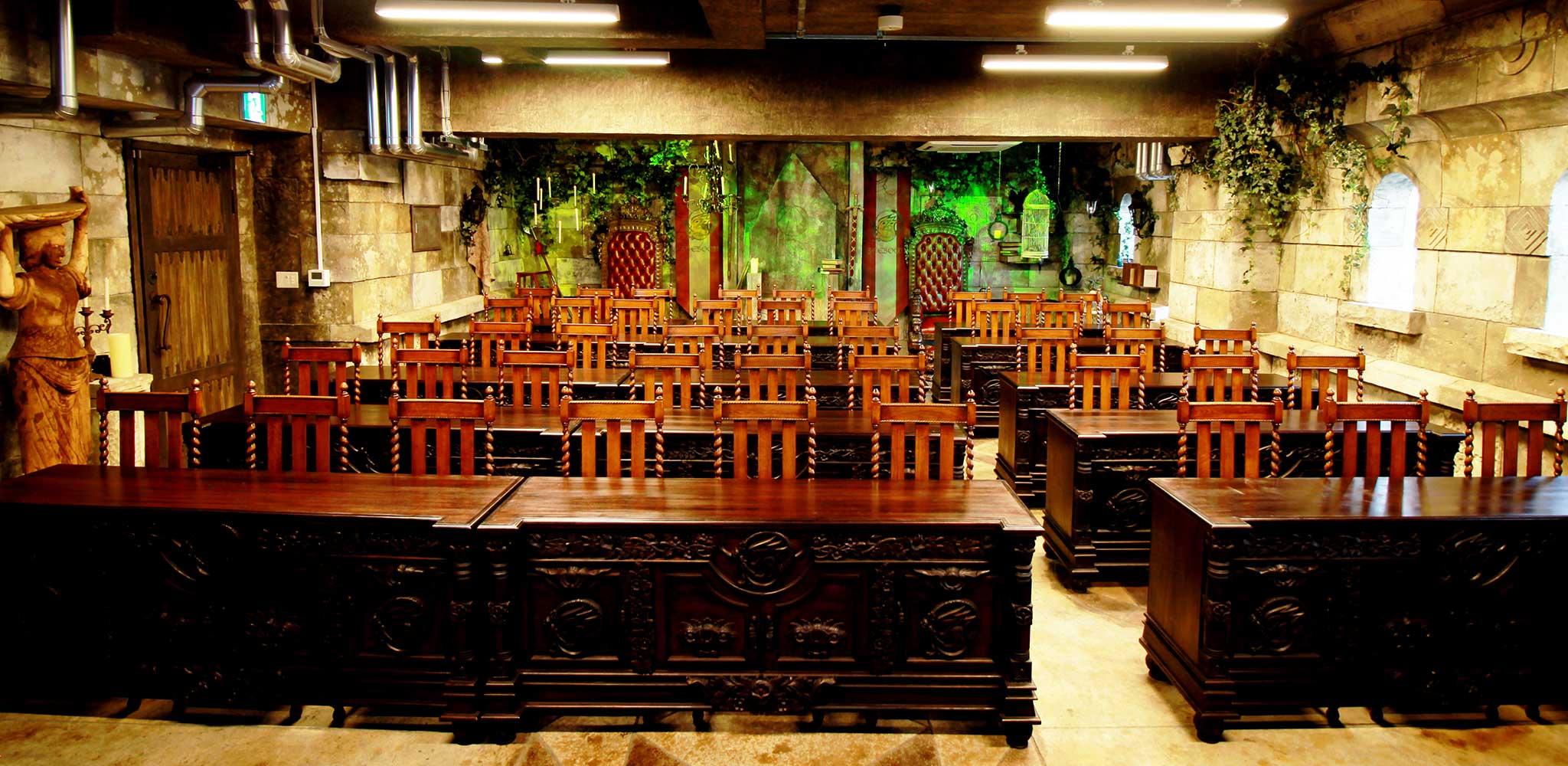 王宮の魔法の学校教室の眺め